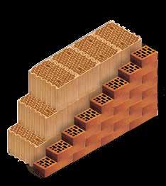 Кладка стены из керамических блоков KERAKAM 38 Thermo с лицевым кирпичом